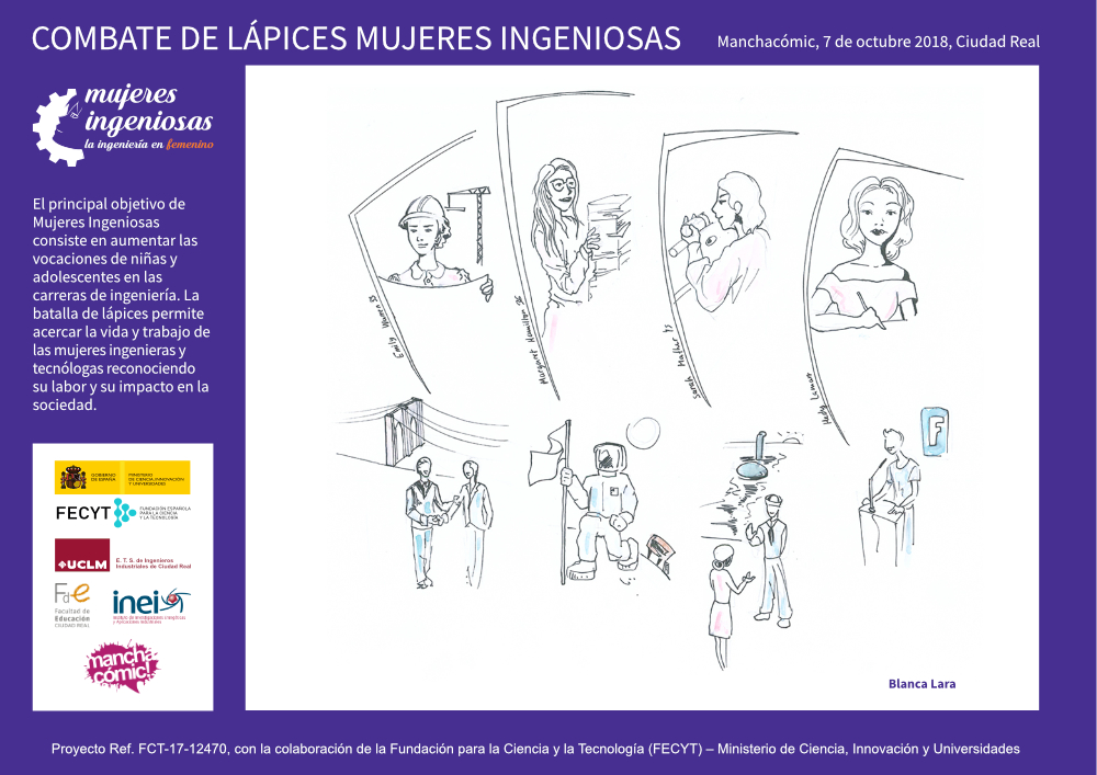 Mención Mujeres Ingeniosas en Manchacómic