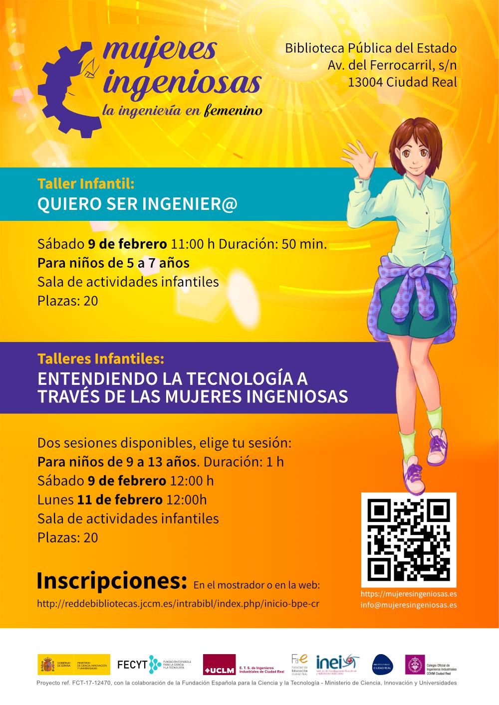 cartel Mujeres Ingeniosas Talleres