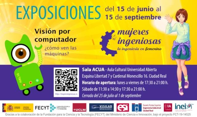 Cartel exposiciones Mujeres Ingeniosas - Visión por computador